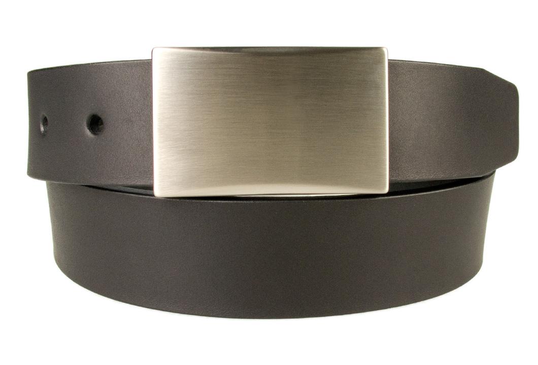 Mens Leather Belt With Plaque Buckle | BELT DESIGNS