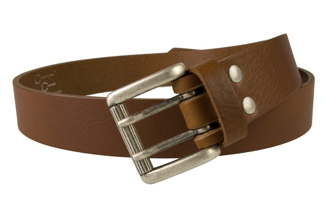 Womens Tan Leather Belt. Made In UK by Champion Chase -Open View