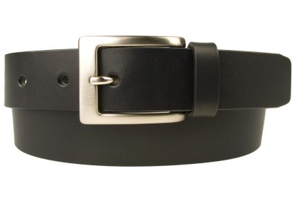 "Mens Leather Belt Made in UK - Full Grain Leather | Black | 1 3/16"" Wide 