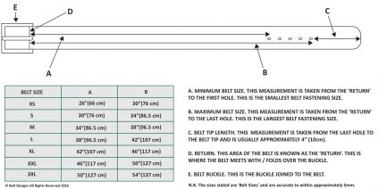 Belt Diagram and Size Guide