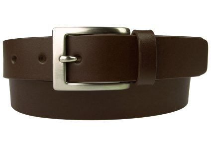 Dark Brown Leather Belt. Made In UK. Italian Full Grain Leather and Italian Made Buckle. 1.2 Inch Wide. Ideal With Smart Pants or Chinos.