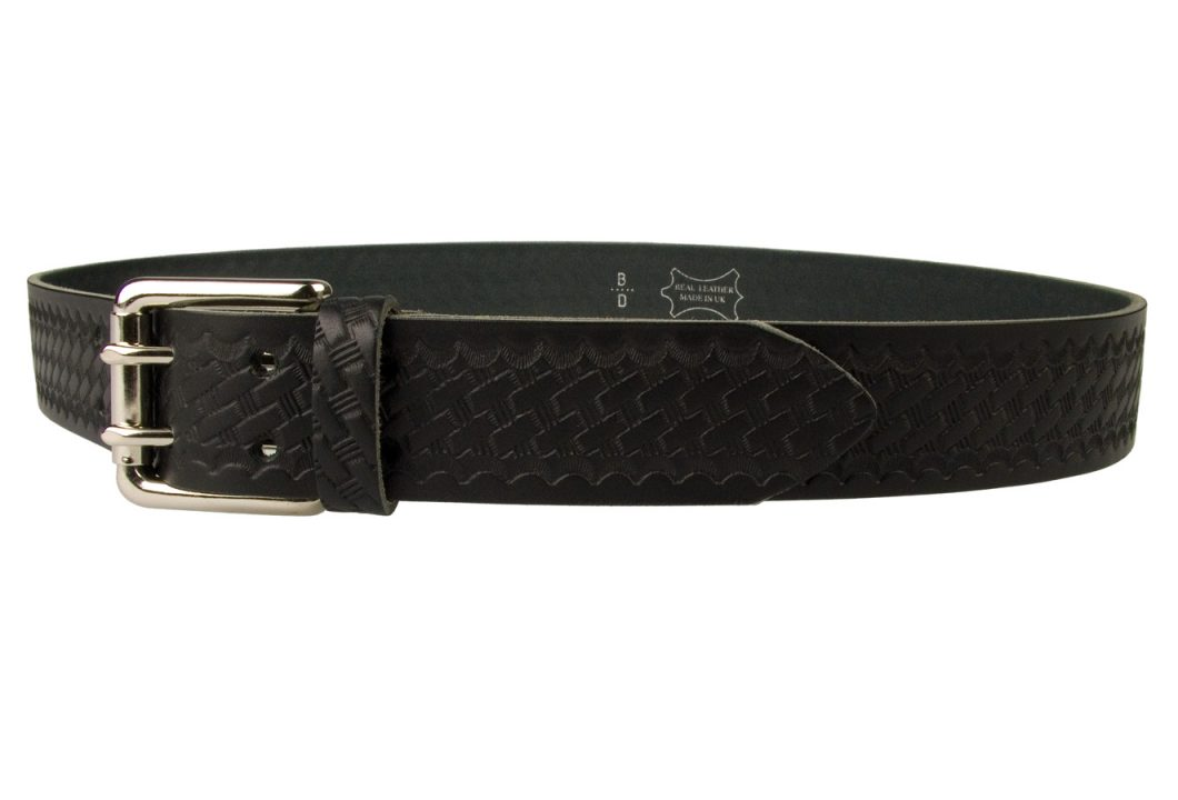 Basket Weave Embossed Leather Duty Belt MADE IN UK.