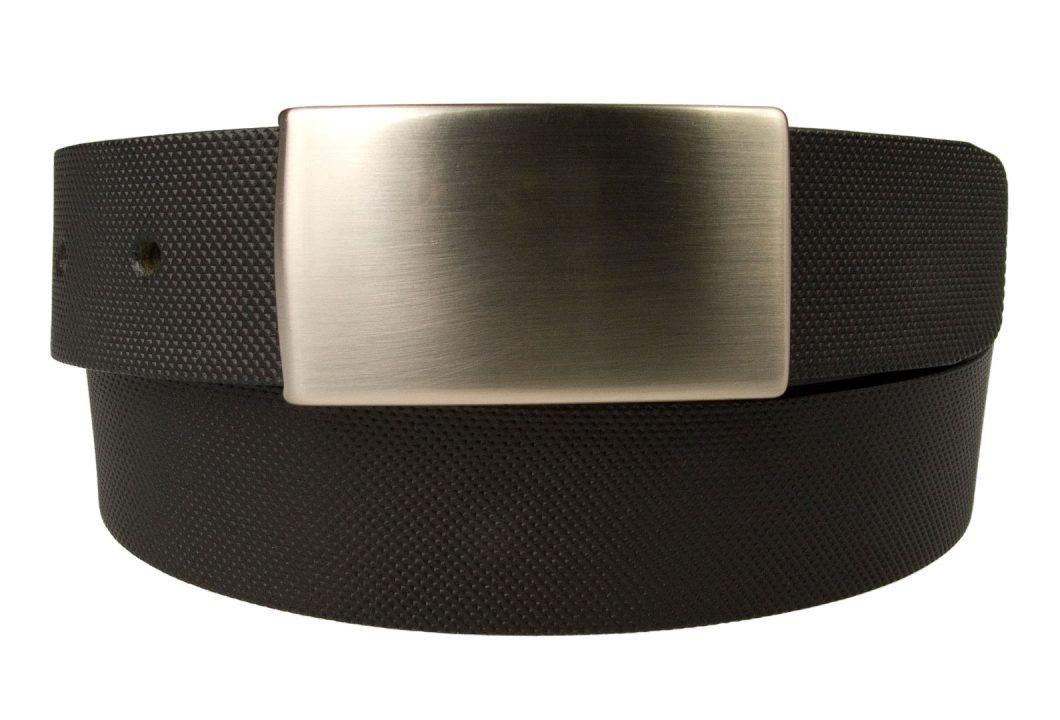 Smart Embossed Plaque Buckle Belt